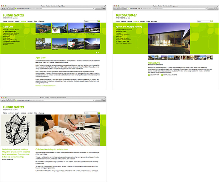 Fulton Trotter Architects website project landing page