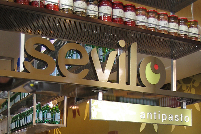 Sevilo Gourmet Delicatessen hero sign