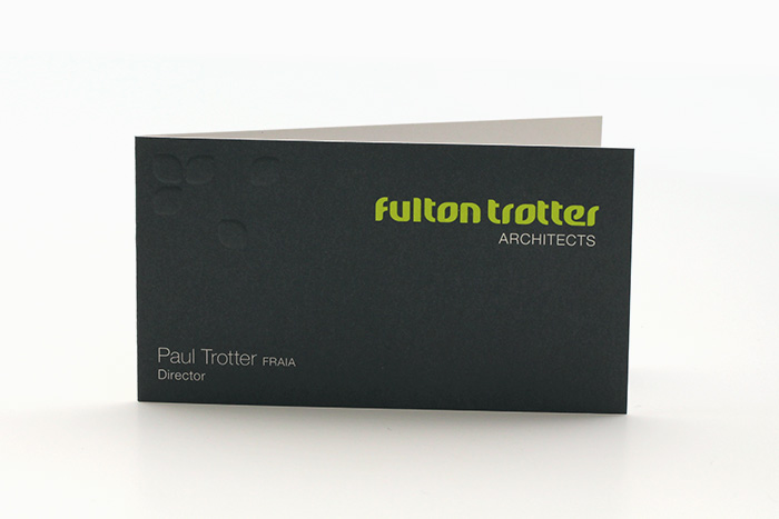 Fulton Trotter Architects business card