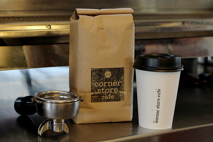 Corner Store Cafe coffee packaging & take away cups