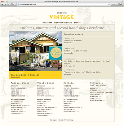 Brisbane Vintage website home page